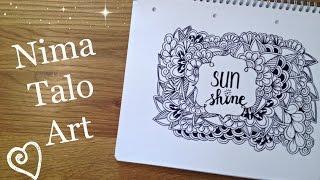 Speed drawing Sunshine - Zentangle inspired