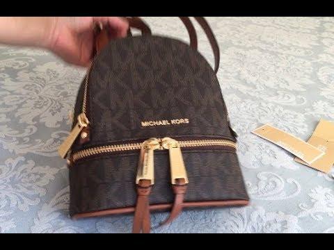 41369f1c39c9 Michael Kors Mini Rhea Zip Backpack | Reveal | #20 - YouTube