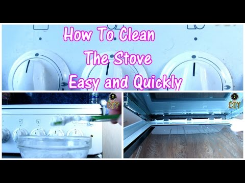 How To Clean The Stove In Easy Way - How To Untwist the Glass Door Of Oven For Cleaning Inside