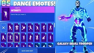 GALAXY SKULL TROOPER SKIN! with NEW DANCE EMOTES! Fortnite Battle Royale
