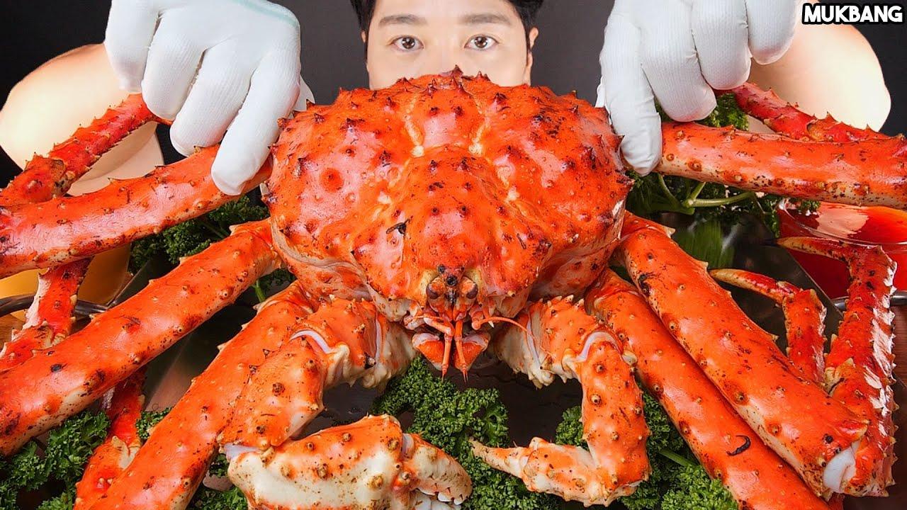 ASMR MUKBANG | KING CRAB ? SEAFOOD EATING 킹크랩 해물찜 소스 퐁당! 먹방