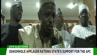 Oshiomhole applauds Katsina state's support for the APC