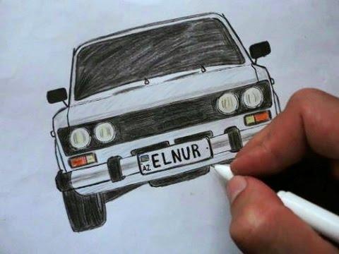 видео: ❤️ Как нарисовать машину ВАЗ 2106 поэтапно❤️ (ehedov elnur)❤️ vaz 2106-nece cekilir ❤️