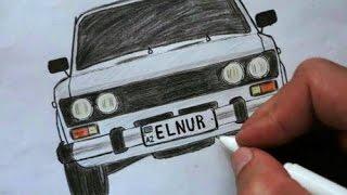 видео Как нарисовать машину ВАЗ 2107 карандашом поэтапно