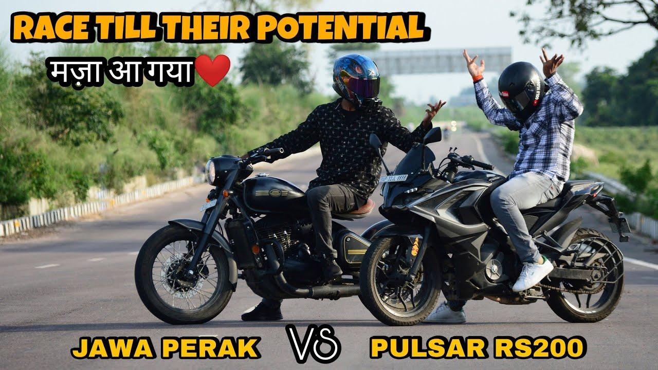 Jawa Perak Vs Pulsar RS200 | Race Till Their PotenTial | मज़ा ही आ गया इस रेस में❤️