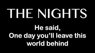 """The Nights"" - Avicii KARAOKE LYRICS (Guitar Instrumental) - Backing Track"