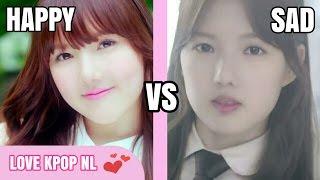 k pop girl groups happy vs sad songs