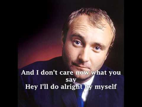 PHIL COLLINS - I DON'T CARE ANYMORE ( With Lyrics )
