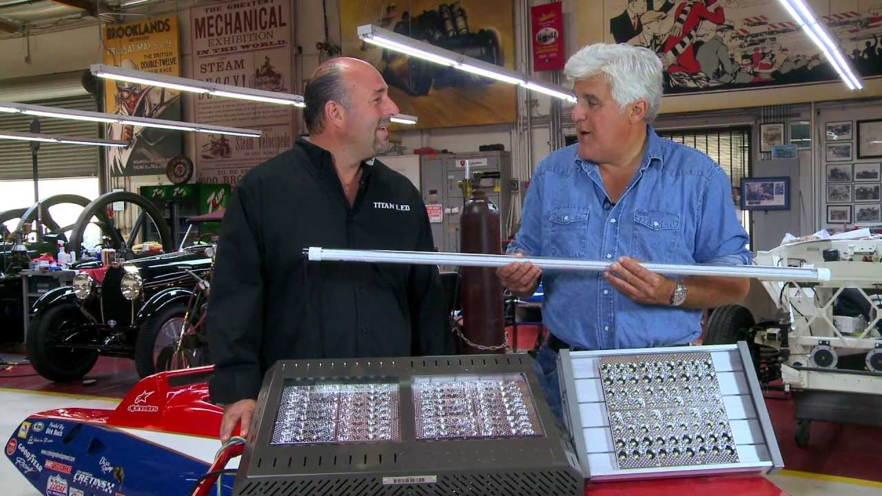 Led shop lights jay lenos garage youtube arubaitofo Choice Image