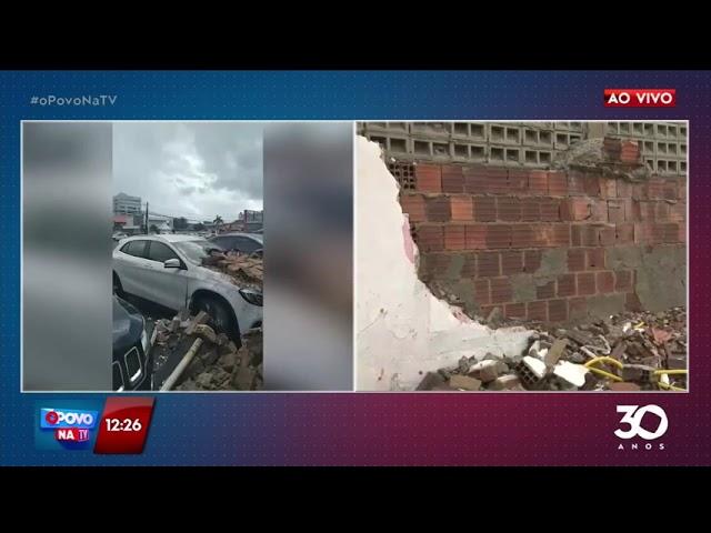 Muro desaba em cima de carros no bairro do Bessa- O Povo na TV