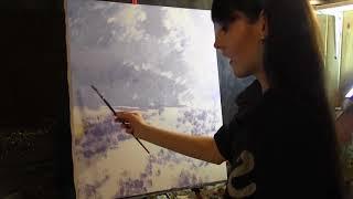 Копия картины Клода Моне, полный видеоурок ,художник Фания Сахарова 1