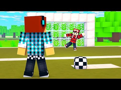 DESAFIO DO FUTEBOL NO MINECRAFT !! ( Quem vence? Authentic ou Minguado? )