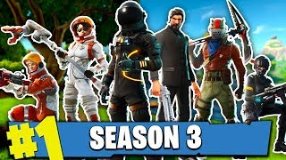 WASTING ALL MY MONEY ON SEASON 3 BATTLE PASS!! - (Fortnite Battle Royale Saison 3)