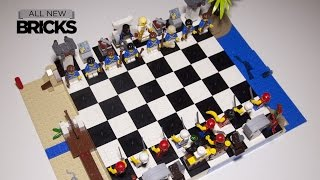 Lego 40158 Pirates Chess Set Build with Donald Byrne vs Bobby Fischer Game of the Century