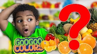 WHAT HAPPEN TO THE FOOD? Learn how to Spell Food with GOO GOO GAGA
