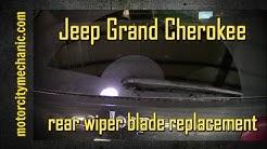2011-2015 Jeep Grand Cherokee rear wiper blade removal