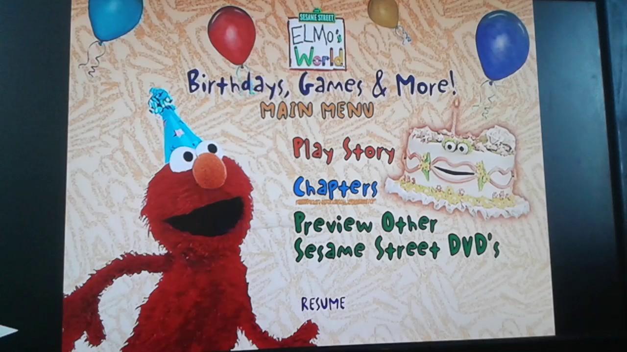 Elmo S World Birthdays Games More Menu Walkthrough