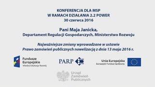 Maja Janicka - Zmiany w ustawie Prawo zamówień publicznych