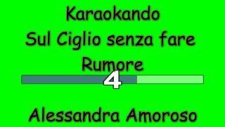 Karaoke Italiano - Sul Ciglio senza far Rumore - Alessandra Amoroso ( Testo )