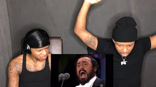 Hip Hop Heads first time hearing Opera Luciano Pavarotti - Nessun Dorma REACTION