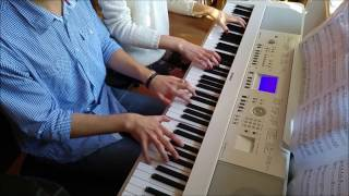 One Republic - Apologize Duet (piano cover by Toms Mucenieks & Anna Poga)