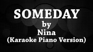 Someday (Karaoke Piano Version) by Nina