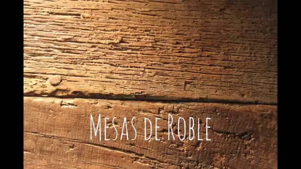 Mesas de Roble  Mueble Catalan  YouTube