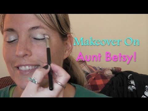 Makeover on Aunt Betsy! (Natural/Organic Makeup)