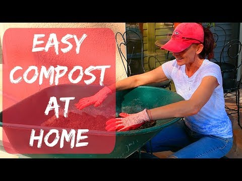Composting in Phoenix at Home - How to Compost Food Scraps Video for Beginners