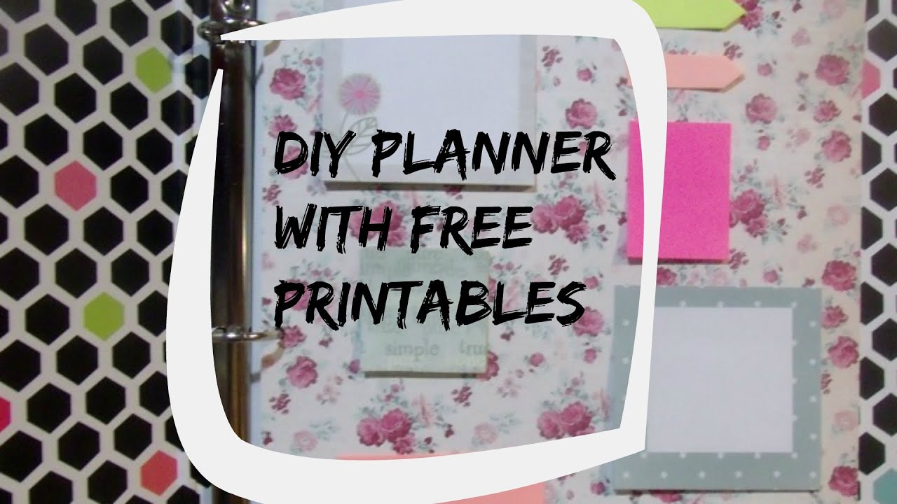 Erin Condren Inspired DIY Planner free printables - YouTube