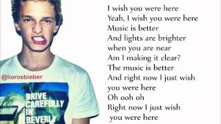 Cody Simpson - Wish You Were Here ft. Becky G [Lyrics Music Video]