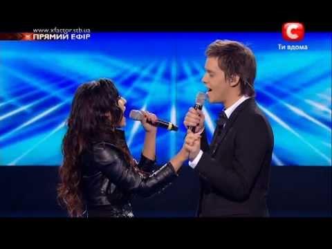 Х-Фактор 2. Аркадий и Малика - прощальная песня - 17.12.2011