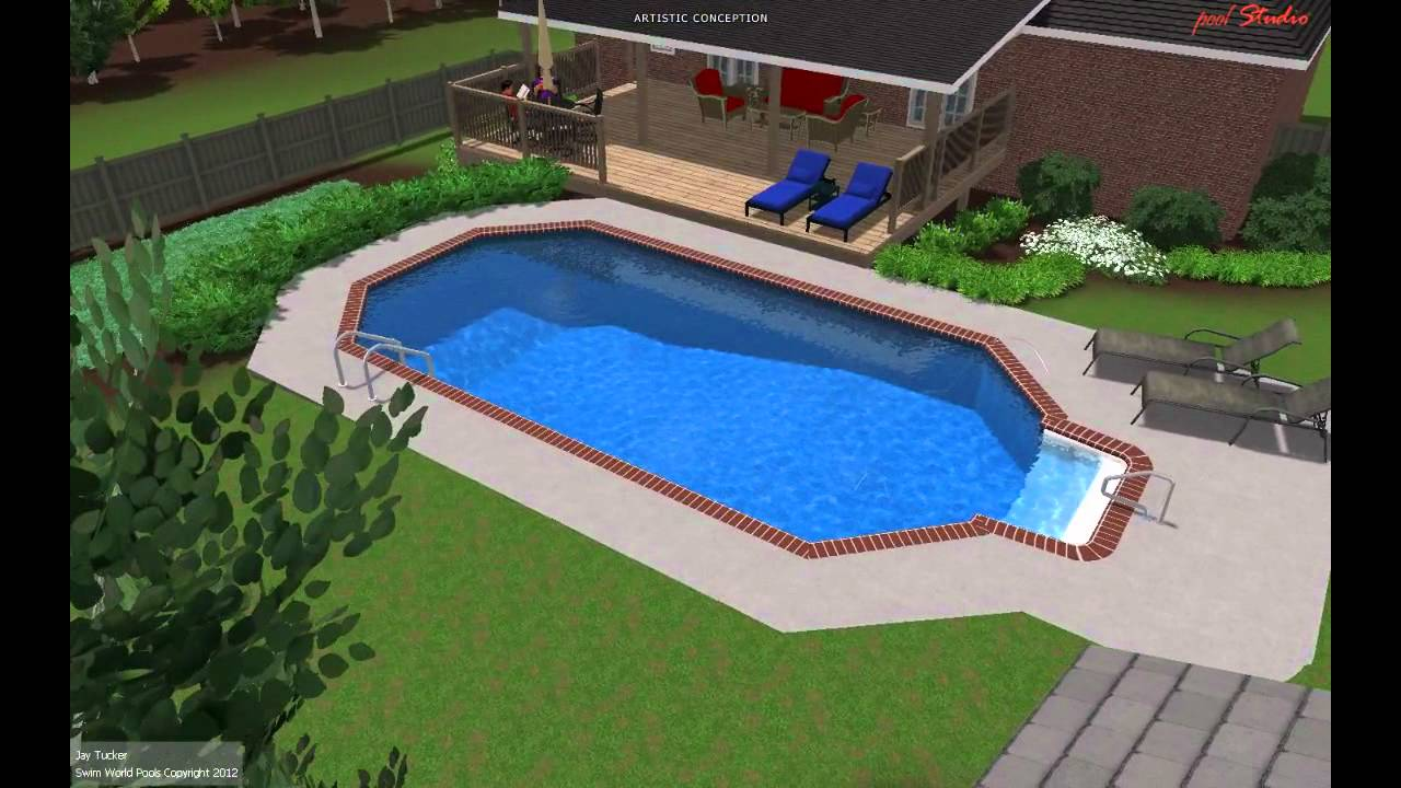 Hatcher grecian pool from swim world pools youtube for Roman style pool design