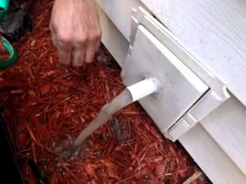 How To Clear Ac Drain Line With A Water Hose Youtube