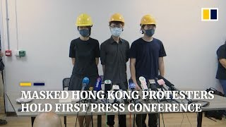 Hong Kong protesters hold their first press conference