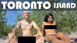 Repeat youtube video Going NUDE at TORONTO ISLAND BEACH