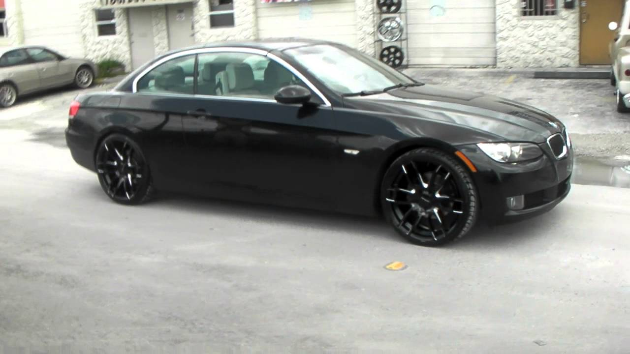 Dubsandtires com 20 inch lorenzo wl36 black concave wheels 2012 bmw 3 series rims miami youtube