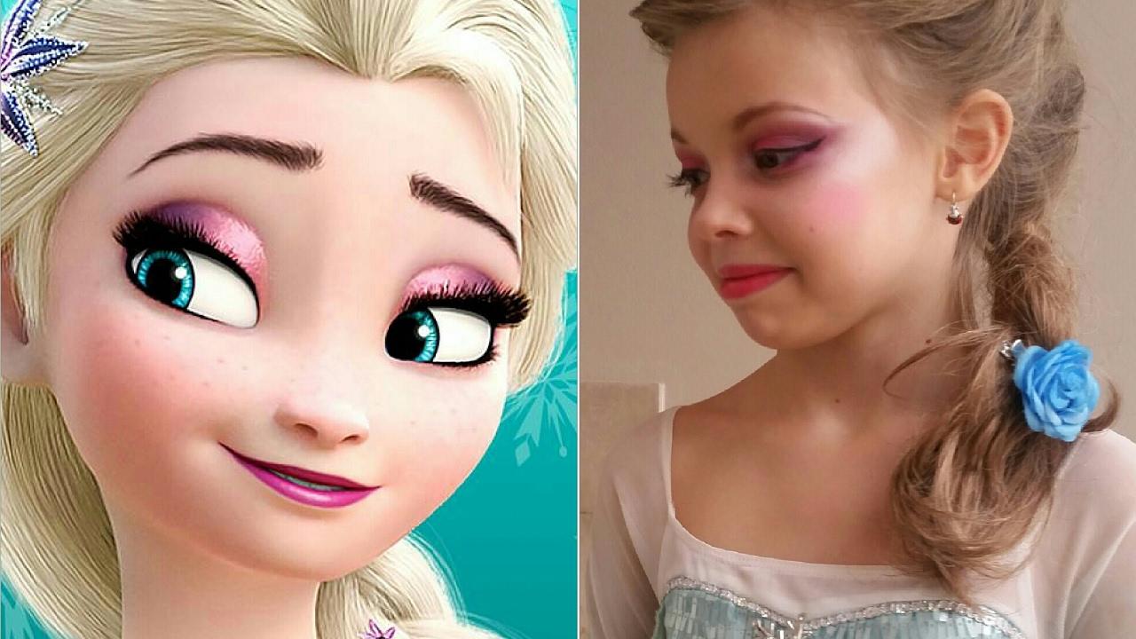 Karnawałowy Makijaz Dla Dziewczynki Królowa Lodu Elsa Frozen