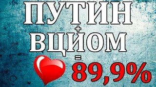 [Особое мнение] Рейтинг Путина по версии ВЦИОМ - 89.9%