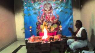 Ganesha Chaturthi Maha Ganapathi Homam Part 1