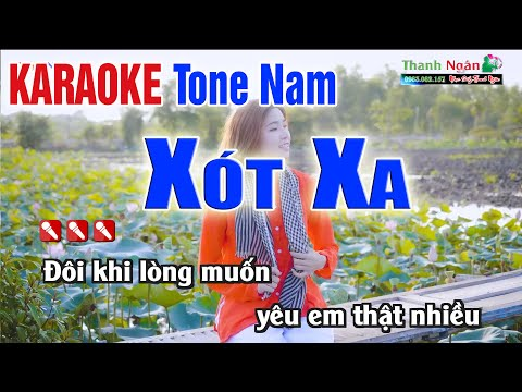 Xót Xa Karaoke Tone Nam Dễ Hát Nhất - Karaoke Nhạc Sống Thanh Ngân