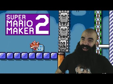 Mario Maker 2: No Skip Endless Super Expert Challenge #2 - Slightly Unfair Levels..