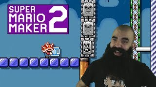 Mario Maker 2: No Skip Endless Super Expert Challenge #2 - Slightly Unfair Levels..