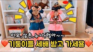 [설날특집] ❤️세배인사 드리기 ❤️/쌍둥이 육아브이록…