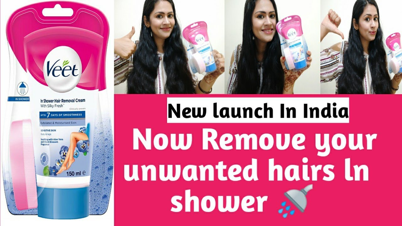 Veet In Shower Hair Removal Cream Review And Demo Now Remove