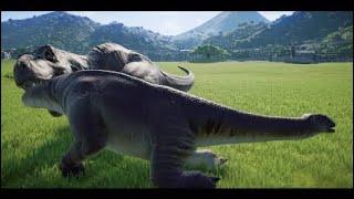 All Carnivore Kills On Nigersaurus In Slow Motion(JWE-Herbivore Pack DLC)