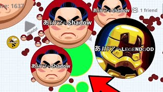 KING REVENGE (Agar.io Mobile Gameplay) DESTROYING HVZ CLAN + BEST MOMENTS!!
