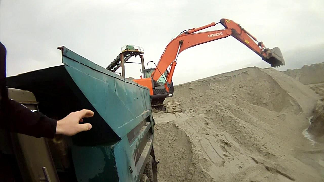 Рейс за намывным песком . Камаз 5511