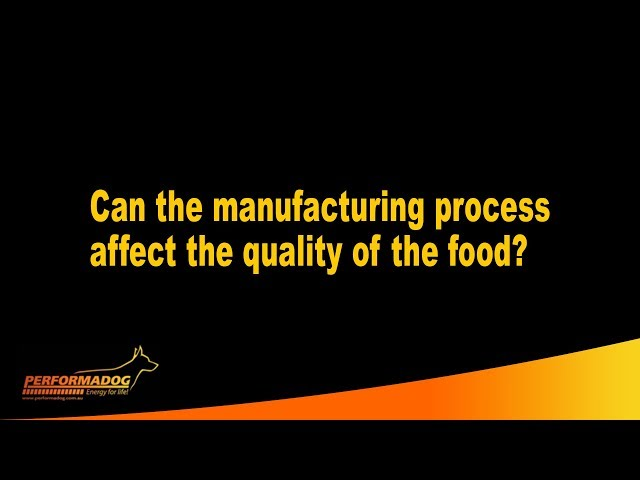 Can the manufacturing process affect the quality of the dog and cat food?