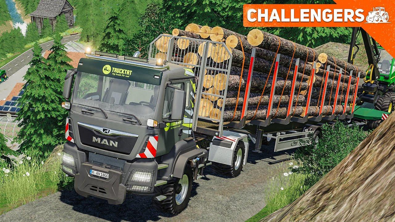 LS19 CHALLENGERS #3: Der Forst-LKW-Konvoi: Festgefahren in den Alpen | FARMING SIMULATOR 19